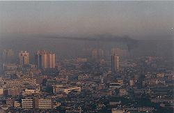Smog en Shanghai.