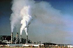 Esta planta generadora de Nuevo México libera dióxido de azufre y otros contaminantes del aire.